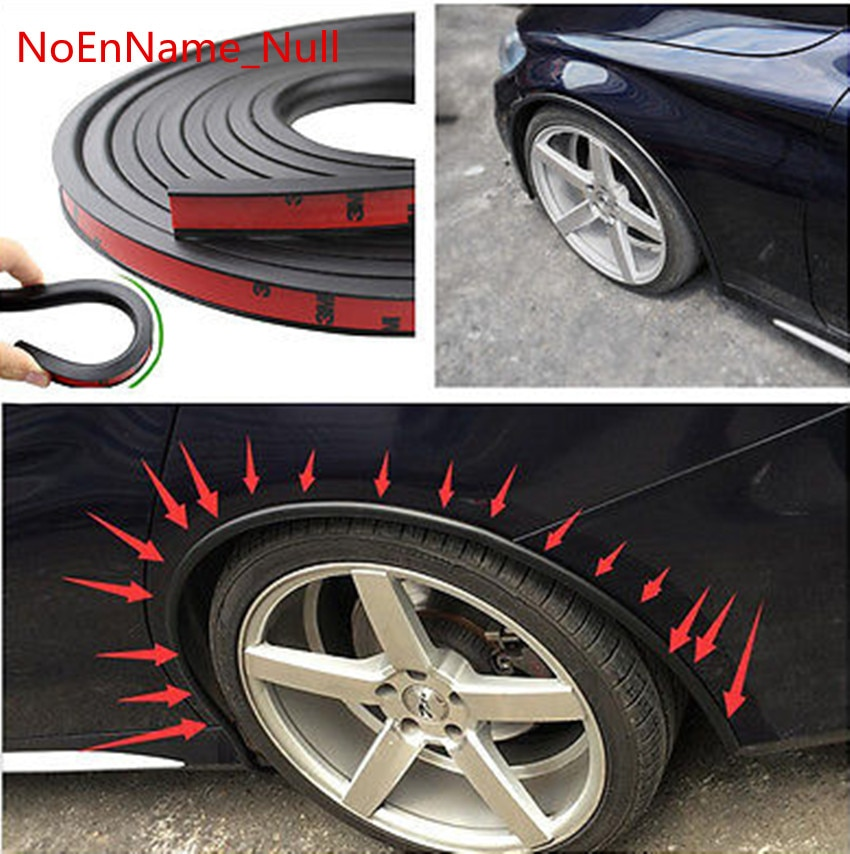 Ultra Soft Car Fender Covers: Soft Car Fender Flare Extension Wheel Eyebrow Protector